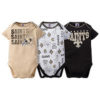 Baby New Orleans Saints 3-Pack Bodysuit Set