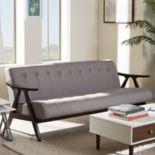 Baxton Studio Enya Mid-Century Sofa