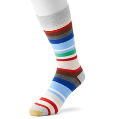 Men's GOLDTOE Patterned Crew Socks