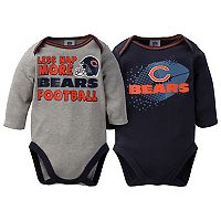 Baby Chicago Bears 2-Pack Bodysuit Set