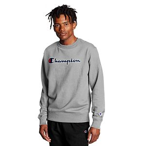Men's Champion Crewneck Logo Fleece Sweatshirt