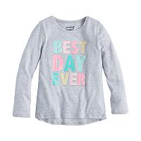 Girls 4-10 Jumping Beans® Embellished Hi Low Graphic Tee