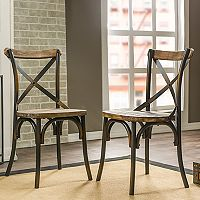 Baxton Studio Industrial Dining Chair 2-piece Set