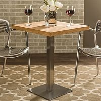 Baxton Studio Owen Rustic Industrial Bistro Table