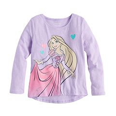 Disney Princess Girls 4-10 Rapunzel Glitter Graphic Tee by Jumping Beans®