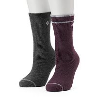 Women's Columbia 2-pk. Brushed Fleece Lined Crew Socks