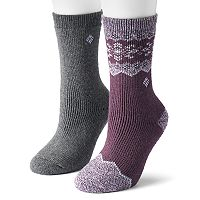 Women's Columbia 2-pk. Wool Blend Fair Isle Crew Socks