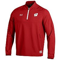 Men's Under Armour Wisconsin Badgers Cage Pullover Jacket