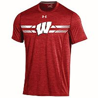 Men's Under Armour Wisconsin Badgers Training Short-Sleeved Tee