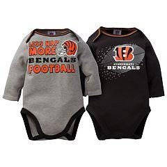 Baby Cincinnati Bengals 2-Pack Bodysuit Set