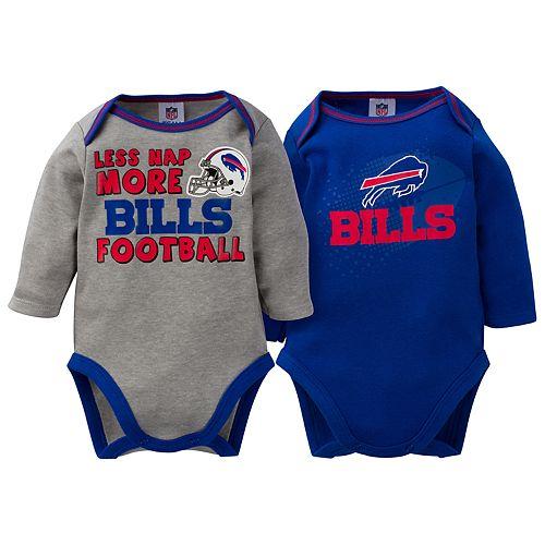 Baby Buffalo Bills 2-Pack Bodysuit Set