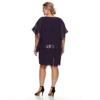 Plus Size Le Bos embellished Trim Dress & Jacket Set