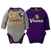 Baby Minnesota Vikings 2-Pack Bodysuit Set