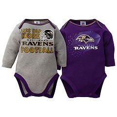 Baby Baltimore Ravens 2-Pack Bodysuit Set