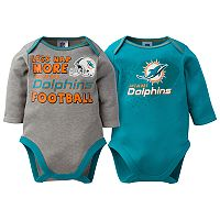Baby Miami Dolphins 2-Pack Bodysuit Set