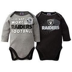 Baby Oakland Raiders 2-Pack Bodysuit Set