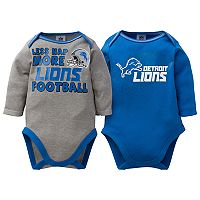 Baby Detroit Lions 2-Pack Bodysuit Set