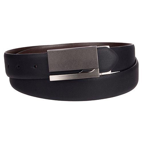 Men's Apt. 9® Textured Reversible Plaque Buckle Belt