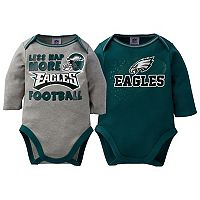 Baby Philadelphia Eagles 2-Pack Bodysuit Set