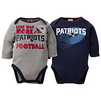 Baby New England Patriots 2-Pack Bodysuit Set