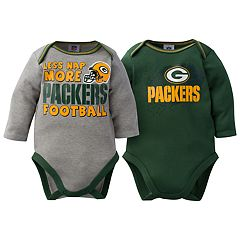 Baby Green Bay Packers 2-Pack Bodysuit Set