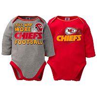 Baby Kansas City Chiefs 2-Pack Bodysuit Set