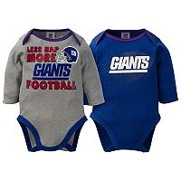 Baby New York Giants 2-Pack Bodysuit Set