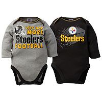Baby Pittsburgh Steelers 2-Pack Bodysuit Set
