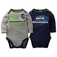 Baby Seattle Seahawks 2-Pack Bodysuit Set