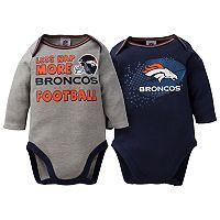 Baby Denver Broncos 2-Pack Bodysuit Set