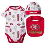 Baby San Francisco 49ers 3-Piece Bodysuit Set