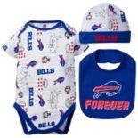 Baby Buffalo Bills 3-Piece Bodysuit Set