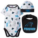 Baby Carolina Panthers 3-Piece Bodysuit Set