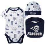 Baby Los Angeles Rams 3-Piece Bodysuit Set