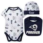 Baby Los Angeles Rams 3 pc Bodysuit Set