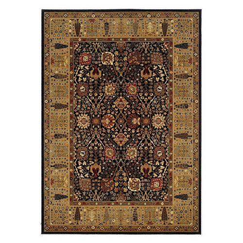 Couristan Royal Kashimar Cypress Garden Framed Floral Wool Rug