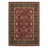 Couristan Royal Kashimar Cypress Garden Framed Floral Wool Rug