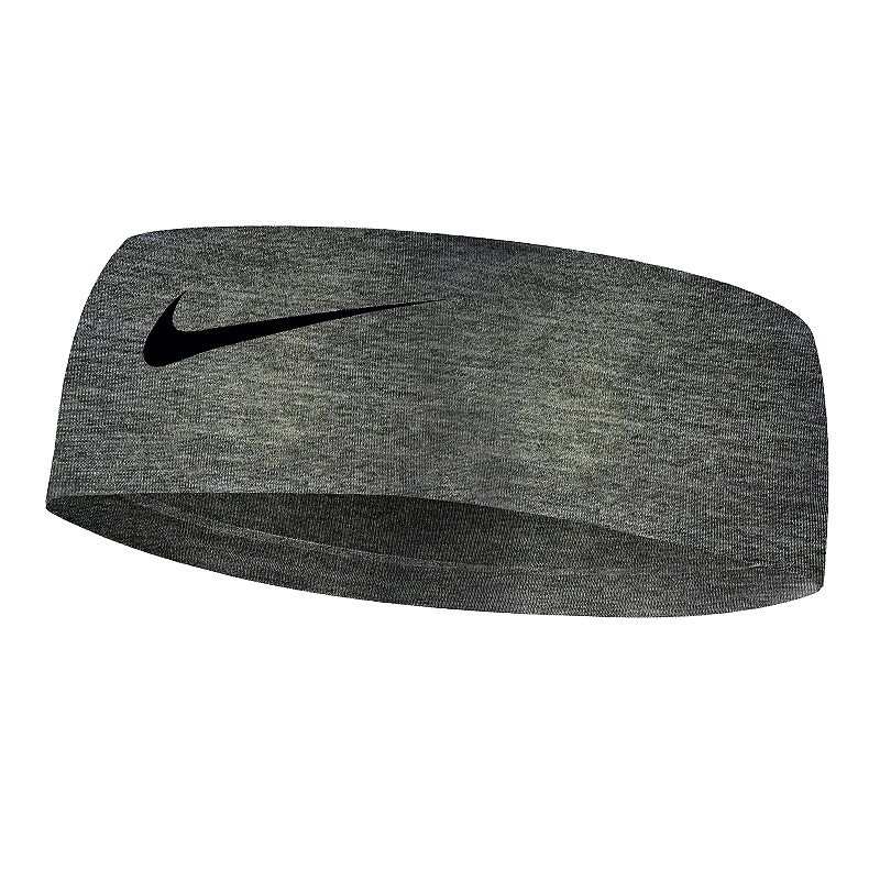 Nike Heathered Fury Headband, Women's, Grey Keep your hair in line with this Nike headband. Dri-FIT moisture-wicking fabric Silicone non-slip grip Swoosh logo FIT & Sizing 2.5 in. width 17.3 in. circumference Fabric & Care Polyester, spandex Machine wash Imported Size: One Size. Color: Grey. Gender: Female. Age Group: Adult.