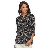Women's Croft & Barrow® Print Popover Shirt