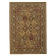 Couristan Royal Kashimar Persian Panel Framed Floral Wool Rug