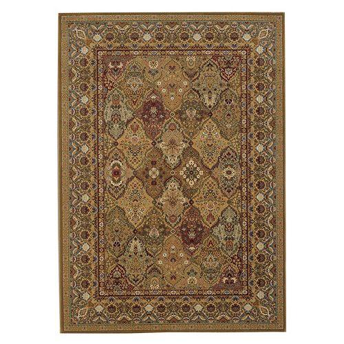 Couristan Royal Kashimar Persian Panel Framed Floral Wool Rug