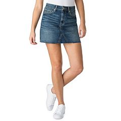 Juniors' DENZIEN from Levi's Fray Hem Mini Jean Skirt