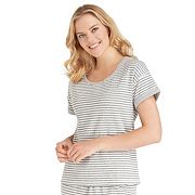 Women's Jockey Pajamas: Striped Short Sleeve Top