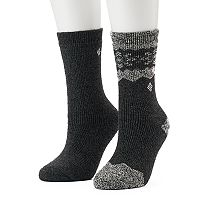 Women's Columbia 2-pk. Snowflake Stripe Wool Crew Socks