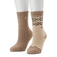 Women's Columbia 2 pkSnowflake Stripe Wool Crew Socks