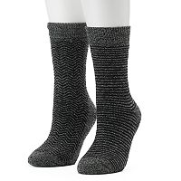 Women's Columbia 2-pk. Striped Thermal Crew Socks