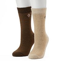 Women's Columbia 2 pkStriped Thermal Crew Socks