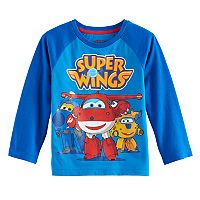 Toddler Boy Super Wings Jett, Donnie & Jerome Raglan Tee