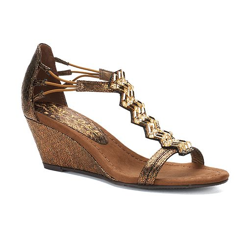 New York Transit Brighter Beauty Women's Wedge Sandals