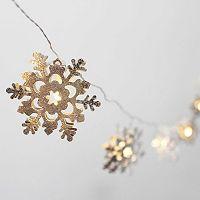 Manor Lane 10-ft. LED Snowflake String Lights